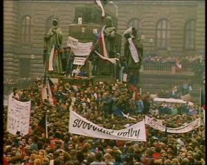 Wenceslas Square, Velvet Revolution