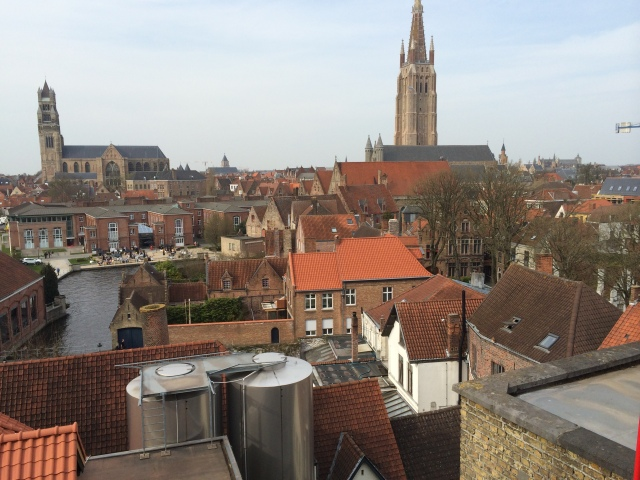 Views of Brugge on top of Brewery